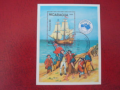 Nicaragua - 1984 Ausipex - Minisheet - Unmounted Used - Ex. Condition