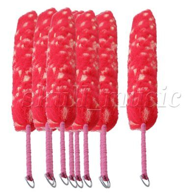 10 x Red Soft Nylon Cotton Clarinet Flute Oboe Cleaning Brush Bottles Cleaner
