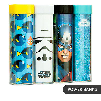 Character Power Banks - Disney Frozen, Dory, Starwars & Avengers +