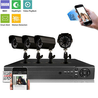 Outdoor HD 4CH 960H HDMI CCTV Video DVR Night Vision Camera Security System UK