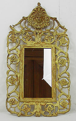 Antique french Victorian  Gilded  Brass Bronze  Wall Mirror