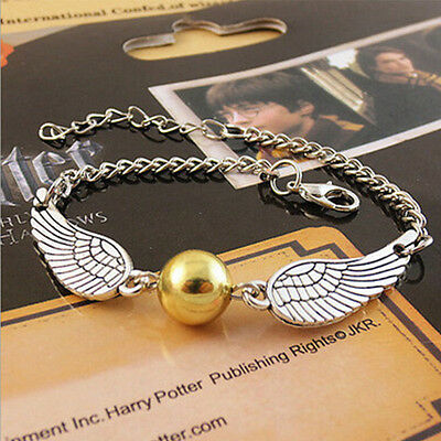 Harry The Deathly Hallows Golden Snitch Style Angel Wings Jewellery Gift Toy