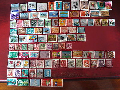 Switzerland - 99 Swiss Stamps (1) - All Different - Excellent Condition