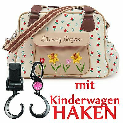 Pink Lining Sac à langer +Crochets HnS Blooming Gorgeous Tulipes et forget me