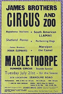 1981 James Brothers Circus Poster