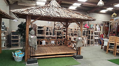 Bali Hut 4m x 3m roofline LOW FLOOR  $2300.00  - other sizes available