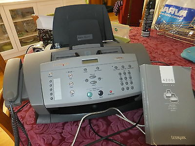 LEXMARK 3 in 1 FAX SCAN COPYIN EXCELLENT CONDTION WITH MANUAL AND CABLES