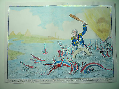 """James Gillray. """" Extirpation Of The Plagues Of Egypt .""""  Rare Horatio Nelson"""