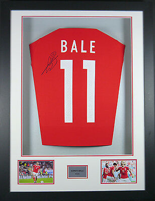 Gareth Bale Wales Signed Shirt 3D Frame with COA