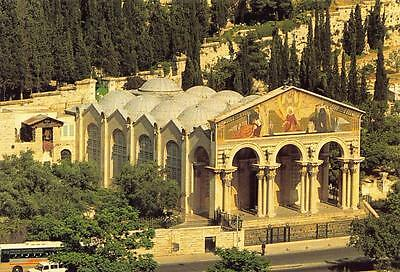 Postcard JERUSALEM Garden of Gethsemane Israel Holy Land Middle East