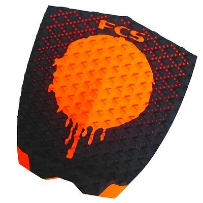 FCS Gabriel Medina Surfboard Tail Pad Black Orange NEW