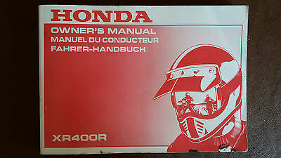 Honda XR400R NOS Owners Manual P/N0 37KCY600