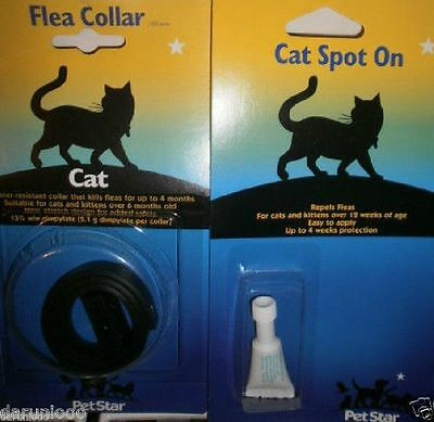 2 Pieces Pet Cat Kitten Flea Tick Collar Lasts Up To 4 Months Stretch Design