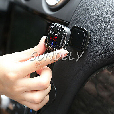 Car Kit FM Transmitter Bluetooth4.0 Handsfree MP3 Player SD&USB Charger Magnetic