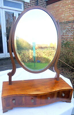 EDWARDIAN. Ladies Dressing  Table Swivel Mirror with a Serpentine Base.  C1910