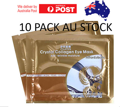 10 PACK Pilaten eye mask for Wrinkles/Lines, Dark Circles, Fatigue, Hydration