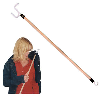 "Dressing Stick 18"" 27"" Push Pull Hook Long Lightweight Mobility Disability Aid"