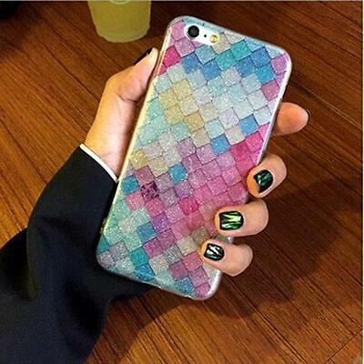 NEW Fashion Mermaid Scales Pattern Hard Case Cover For iPhone 6 6s 7 Plus