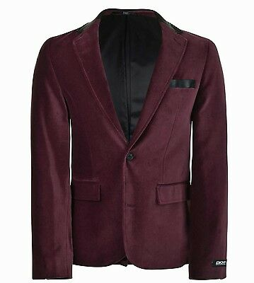 DKNY Blazer Jacket, Black Cherry, Velvet, 100% Authentic Brand new mint  Size XL