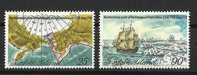 Norfolk Island - Captain Cook set - 1978 - Northernmost Voyages - G/Used