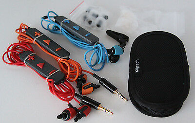 Klipsch Image S4i S4 Rugged Sport In Ear Headphones Red Blue Orange Warranty