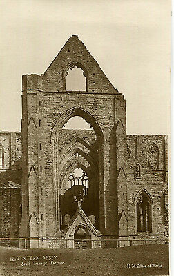 1920s Postcard South transept Exterior TINTERN ABBEY Monmouthshire