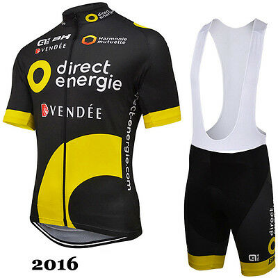 Ropa de ciclismo: Direct Energie 2017 maglie maillot cycling jersey bib shorts