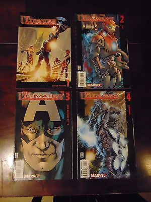 Lot of 4 Comic Books Marvel The Ultimates, Issues 1,2,3,4
