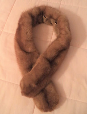 "Vintage Real Fur  Coat Collar Fur 37"" Long & 4"" Wide"