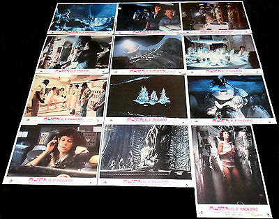 1979 Alien ORIGINAL SPAIN 79' LOBBY CARD SET Ridley Scott Sigourney Weaver