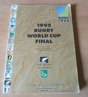 1995 - New Zealand v South Africa, World Cup Final Match Programme.