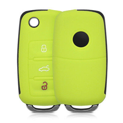 kwmobile SILICONE COVER FOR VW SKODA SEAT 3-BUTTON CAR KEY ETUI KEY CASE COVER