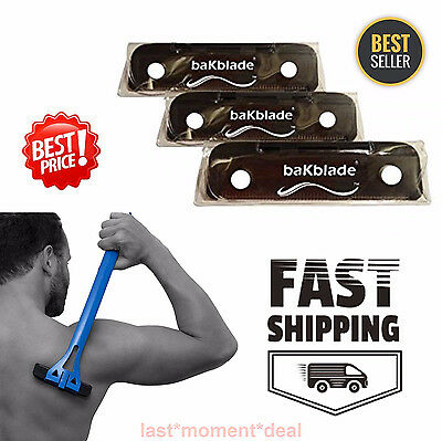 Back Hair Shaver Replacement 3 bakblade BIGMOUTH Blade DIY man Body Trimmer NEW