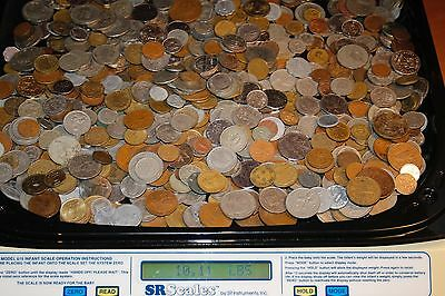 10 lbs of  mixed Foreign coins. Best per pound price on EBAY. FREE SHIPPING!!!!!