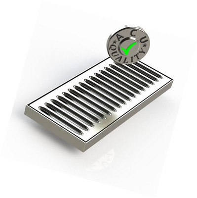 ACU Precision Sheet Metal 0100-08 Surface Mount Drip Tray, No Drain, Stainless S