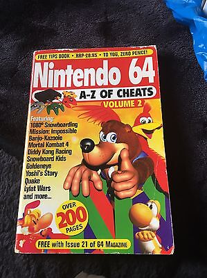 Official Nintendo 64 Book Of Cheats Volume 2 1998