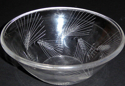 Rene Lalique Bowl Arras Pattern Wheat sheaf 21cm Early Example Rare