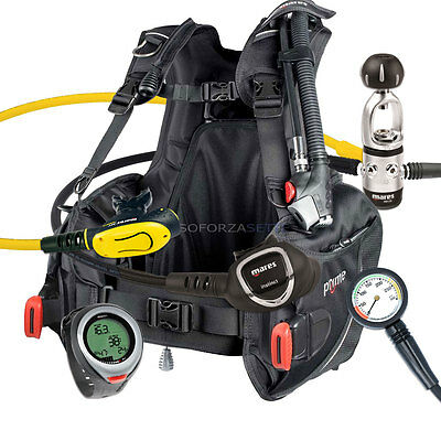 DIVING EQUIPMENT PACKAGE MARES BCD PRIME SIZE XLARGE MR12s INSTINCT & PUCK