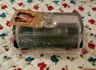 The Pioneer Woman Adeline Butter Dish Clear  New with Tags