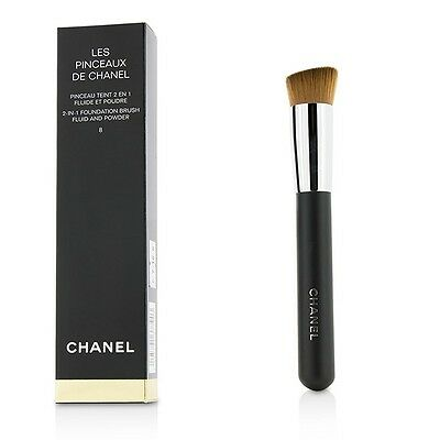 NEW Chanel 2 In 1 Foundation Brush (Fluid And Powder) Womens Makeup