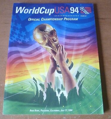 1994 - Brazil v Italy, World Cup Final Match Programme.