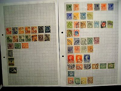 6 pages of Netherlands used stamps.