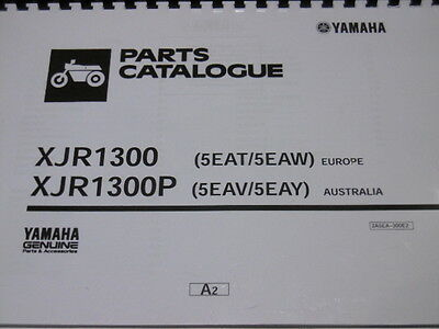 Yamaha Xjr 1300 1300P Parts List Manual Catalogue 1300 P 5Eat  5Eaw 5Eav  5Eay