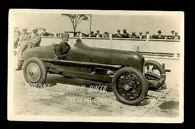 Car Auto Racing RPPC real photo postcard Indy 500 Phillip Shafer 1925 RARE