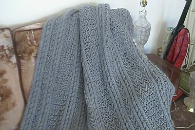 """Beautiful 53""""X76"""" Gray colored Blanket"""