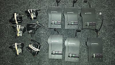 Lot of 6 Plantronics Vista M12 Amplifier w/ Pigtail Chord and Power Supply