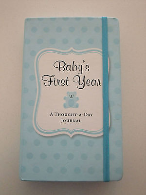 Baby's First Year: A Thought-A-Day Journal (Blue)