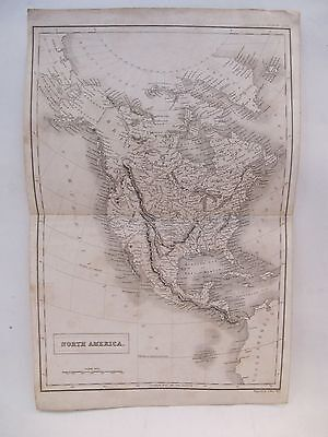 19th CENTURY, Map of NORTH AMERICA, Engraved by SIDNEY HALL (1788 - 1831)