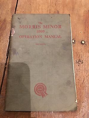 Morris 1000 First Edition Operation Manual 1956