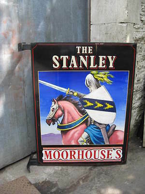 Collectable Pub Sign The Stanley Moorhouses Wooden Original Salvaged Sign Old